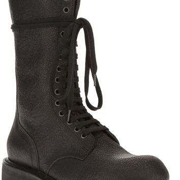 Rick Owens Lace And Zip Boot