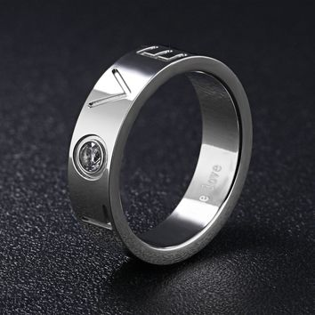 New Arrival Jewelry Shiny Stylish Gift Korean Titanium Accessory Diamonds Ladies Strong Character Ring [11676771087]
