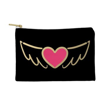 Lisa Argyropoulos On Golden Wings of Love Pouch
