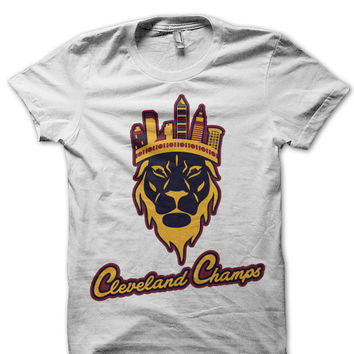 Cleveland Champs Skyline unisex t-shirt in White