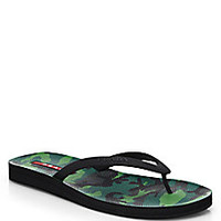 Prada - Rubber Flip Flops - Saks Fifth Avenue Mobile