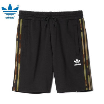 """Adidas"" Fashion Casual Camouflage Stripe Men Leisure Pants Sweatpants Shorts"