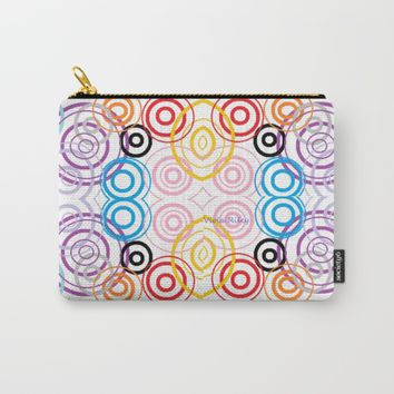 RAINBOW POF EIGHT Carry-All Pouch by violajohnsonriley