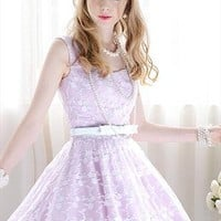 purple white lace elegant evening dress final sale l250 from YRBcollection