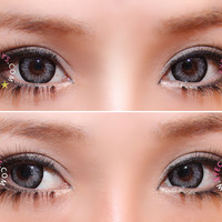 Royal Vision Girly Chip Sesame Gray Circle Lenses Colored Contacts Cosmetic Color Circle Lens   EyeCandy's
