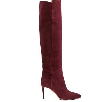 Gainsbourg 85 suede knee-high boots | Aquazzura | MATCHESFASHION.COM US