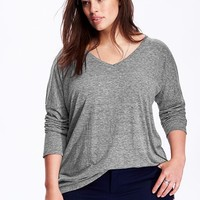Old Navy V Neck Plus Size Tunic Tee