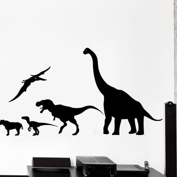 Wall Decal Dinosaur Animal Jurassic Period Dino Kids Decor z3993