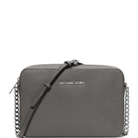 Jet Set Travel Saffiano Crossbody Bag, Steel Gray - MICHAEL Michael Kors