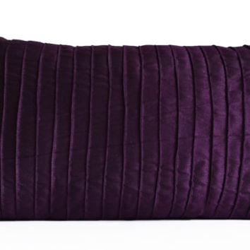 Purple Decorative Pillow Cushion Cover -Deep Dark Purple Throw Pillowcase -All Sizes -Gift -Housewarming -Hostess Host Gift -Thanksgiving