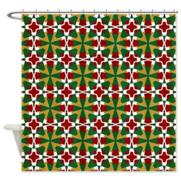 Decorative Red Green White Gold Shower From CafePress