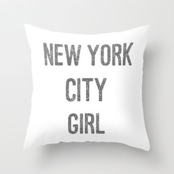 Velveteen pillow new york city girl from bellabellashoppe on - New york girls room ...