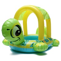 Baby Kids Swimming Ring Float Seat Turtle Shape Sun Shade Water Swim Pool Rings Swimming Pool Accessories