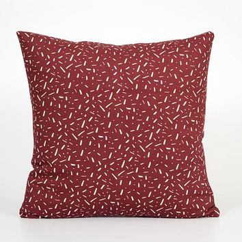 Accent Pillow Cover. Burgundy Pillow Cover. Burgundy Decor. Dark Red Pillow. Maroon Decor. Maroon Pillow Cover. Maroon Decorative Pillow
