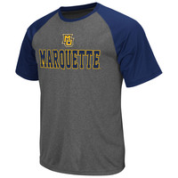 Mens Marquette Golden Eagles Gray Rider Raglan T-Shirt