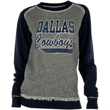 Dallas Cowboys Ladies Ramshackle Long Sleeve T-Shirt - Charcoal/Navy Blue