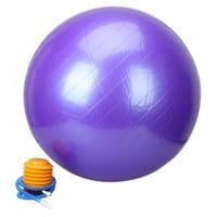 85cm Explosion-proof Thickening Explosion-proof Exercise Fitness Yoga Ball Purple - Default