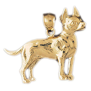 14K GOLD ANIMAL CHARM - DOG #2151