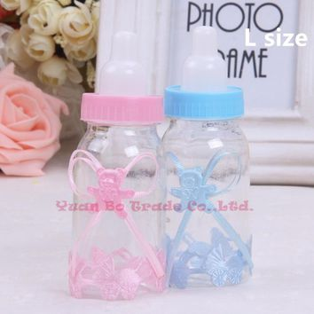 1 Pcs Baby Shower Baptism Christening Birthday Gift Party Favors Candy Box Bottle 2 SIZEs for choose frannnk