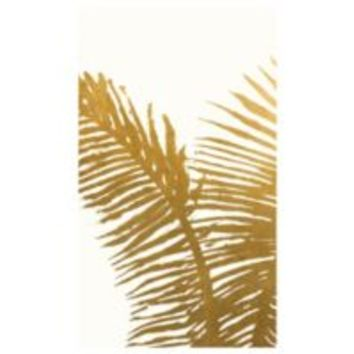 Gold Mono Leaves 1 | Canvas Artwork | Art by Type | Art | Z Gallerie
