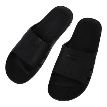 Man Pair Black Rubber Clean Room Anti Static Slippers ESD Sandal US 8.5