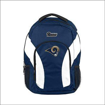"""LA Rams OFFICIAL National Football League, """"""""Draft Day"""""""" 18""""""""H x 10"""""""" (12"""""""" Back) Backpack  by The Northwest Company"""