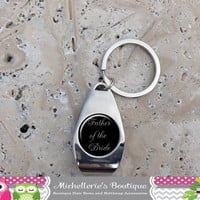 Fully Customizable Personalized Bridal Party Keychain Keyring Key Fob Bottle Opener Bridal Party Gifts Wedding Party Gifts Gifts for Her Him