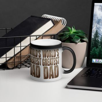 Matte Black Magic Coffee  Mug | World's Greatest Dad