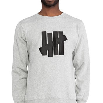 Undefeated 5 Strike Pullover in Gray