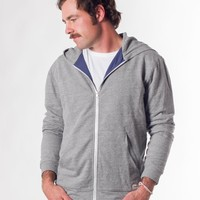 Lined Zip Hoodie - Heather Grey : Marine Layer
