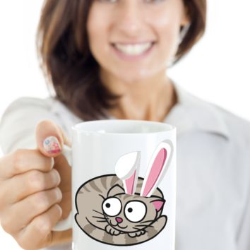 Cat Mug Gift Humor For Grumpy Cat Lovers Chocolate Easter Egg Cup For Kitten Moms Dads Best Present For Easter 2017 2018