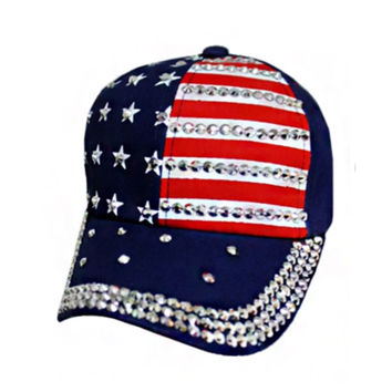"""""""American Pride"""" Stars and Stripes American Flag Navy Blue Hat"""