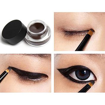 Natural Long-Lasting Black Waterproof Gel Cream Eyeliner