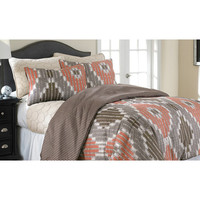 Amrapur Sheila 6 Piece Comforter And Coverlet Set In Chocolate
