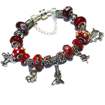 The Little Prince Bracelet - Gift idea for girls, teenagers & women. Little Prince is the most perfect present you can give to someone. Red