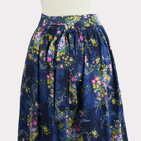 Floral Bouquet Tie Front Skirt