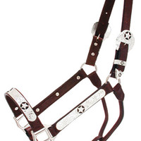 Saddles Tack Horse Supplies - ChickSaddlery.com Star Overlay Show Halter and Lead