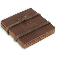 Coors Banquet Leather Coasters (set of 4)