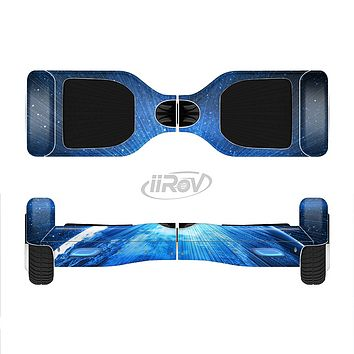 The Bright Blue Earth Light Flash Full-Body Skin Set for the Smart Drifting SuperCharged iiRov HoverBoard