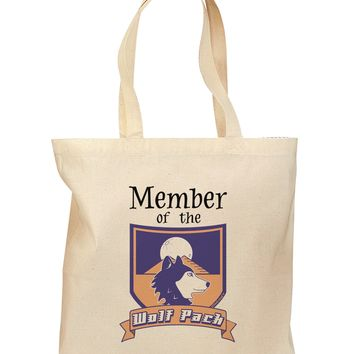 Member of the Wolf Pack Grocery Tote Bag by TooLoud