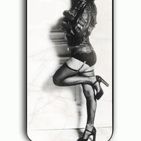 iPhone 5C Case - Rubber (TPU) Cover with Doctor Rocking Drag Rocky Horror Picture Show Rubber Case Design