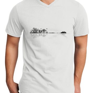 Nature's Harmony Guitar Adult V-Neck T-shirt by TooLoud