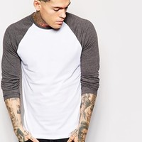 ASOS Long Sleeve T-Shirt With Contrast Sleeves