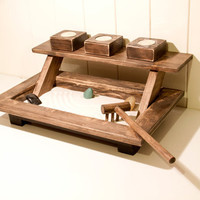 Zen Garden Rustic Wood Walnut Color FREE by ArtGlamourSligo