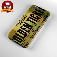 Willy Wonka Golden Ticket Full Wrap Phone Case For iPhone, iPod, Samsung, Sony, HTC, Nexus, LG, and Blackberry