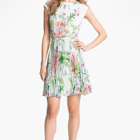 Ted Baker London 'Wallpaper' Pleated A-Line Dress | Nordstrom