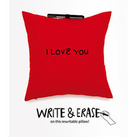 Note Me Rewritable Pillow Red