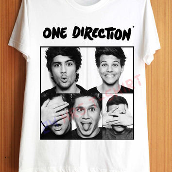One Direction Shirt 1D Shirts T Shirt T-Shirt TShirt Tee Shirt No Side Seams Unisex - Size S M L XL