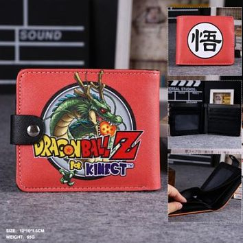 Cute Dragon Ball hasp men's wallets Dragon Ball wallets gift