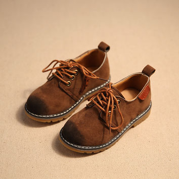 2016 Autumn Children Sneakers Child Casual Shoes Baby PU Leather Sport Shoes Boys Girls Sneakers Child Kids Vintage Martin Boots